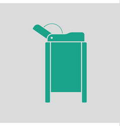 Baby swaddle table icon vector