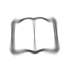 book sign gray icon shaked at white vector image vector image