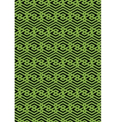 Bright rhythmic endless pattern with zigzag black vector image vector image