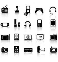 electronics silhouettes vector image