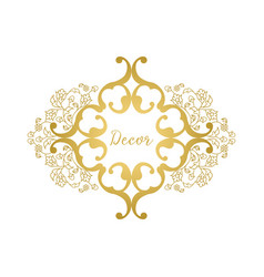 floral ornament in oriental style vector image