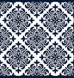 floral ornamental decoration pattern vector image