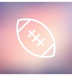 Football ball thin line icon vector image vector image