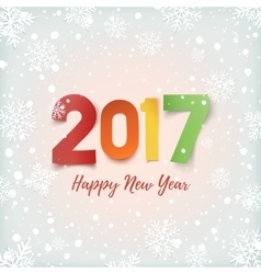 Happy New Year 2017 greeting card template vector image