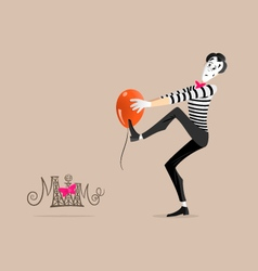 Mime performance - Sticking vector image