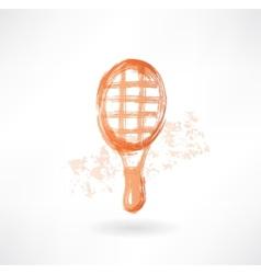 racket grunge icon vector image