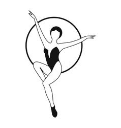 Woman trapeze artist simple icon vector image vector image