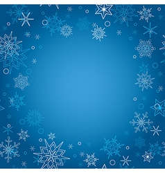 background - blue christmas card with snowflakes vector image