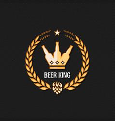 beer bottle concept logo background vector image vector image