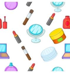 Cosmetics pattern cartoon style vector