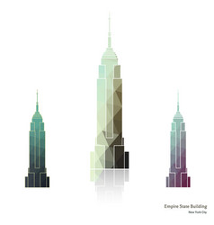 empire state building in new york city vector image vector image