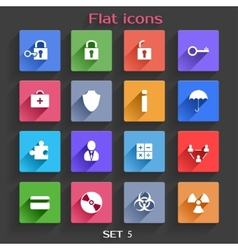 Flat Application Icons Set 5 vector image
