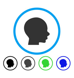 head rounded icon vector image