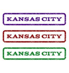 kansas city watermark stamp vector image