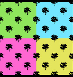 palm trees set on colors background - vector image vector image