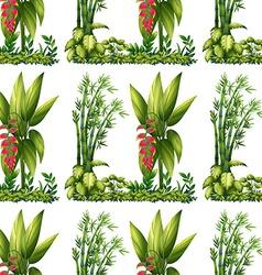 Seamless plants vector image