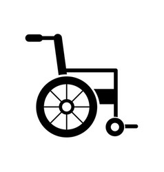 wheelchair medical equipment disable transport vector image