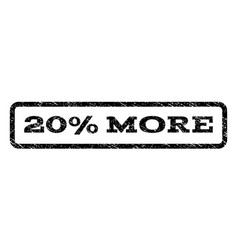 20 percent more watermark stamp vector