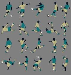 20 Soccer Silhouette vector