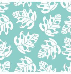 Abstract tropics leaves seamless pattern il vector