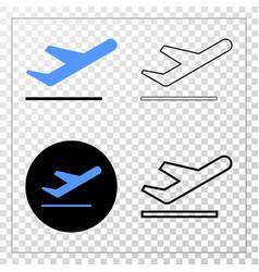 Ariplane takeoff eps icon with contour vector