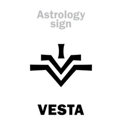 Astrology asteroid vesta vector