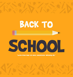 back to school poster education vector image