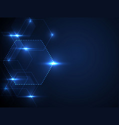 background technology blue tech background with vector image