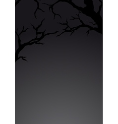 Background with silhouette of branches vector