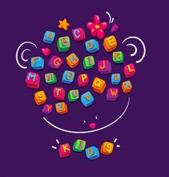 Bacube alphabet vector
