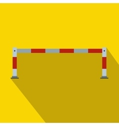 Barrier icon in flat style vector image