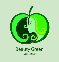 Beauty green logo vector