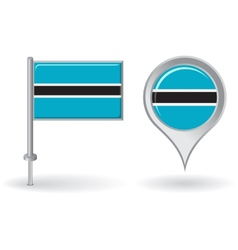 Botswana pin icon and map pointer flag vector image