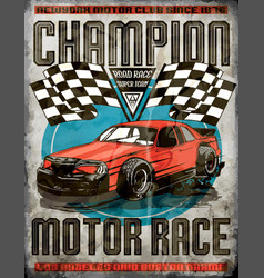 Car race poster vector