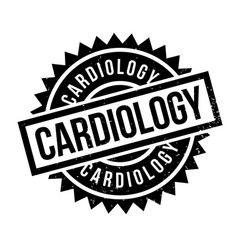 cardiology rubber stamp vector image