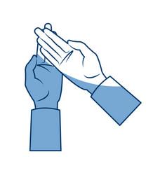 Cartoon human hand man gesture icon vector
