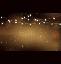 celebration christmas lights glowing garland vector image