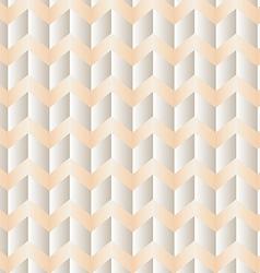 Chevron white and peach vector image