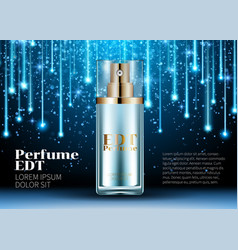 Classic perfume contained in a luxury beautiful vector