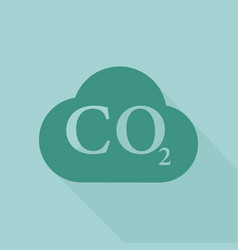co2 cloud iconflat design vector image
