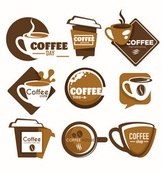 Coffee shop isolated icon drink cup takeaway vector