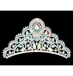 Crown diadem tiara women vector