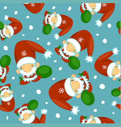 cute santa clauses seamless pattern can be vector image