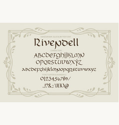 decorative vintage magic styled letters vector image