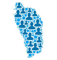 dominica island map population demographics vector image