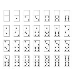 Dominoes tiles set domino bones full set vector