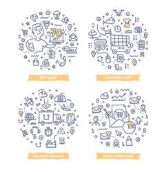 E-commerce doodle vector