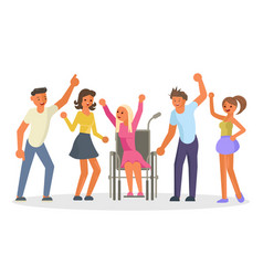 equal opportunity happy group of students vector image