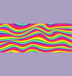 flowing wavy lines stripe pattern in rainbow vector image