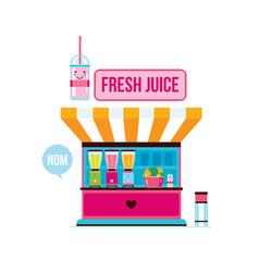fresh organic juice shop street food cafe vector image